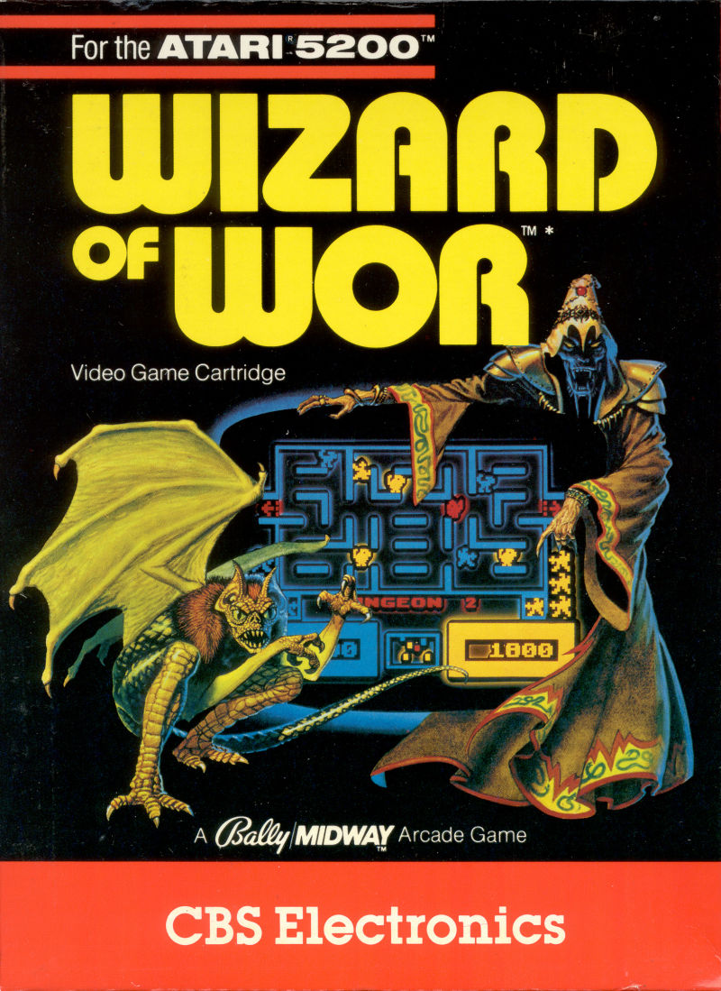 Wizard of Wor Atari 5200 Front Cover
