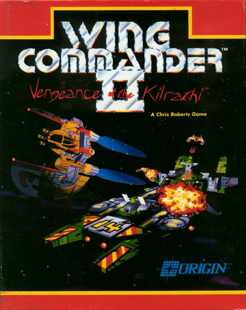 Wing Commander II: Vengeance of the Kilrathi DOS Front Cover
