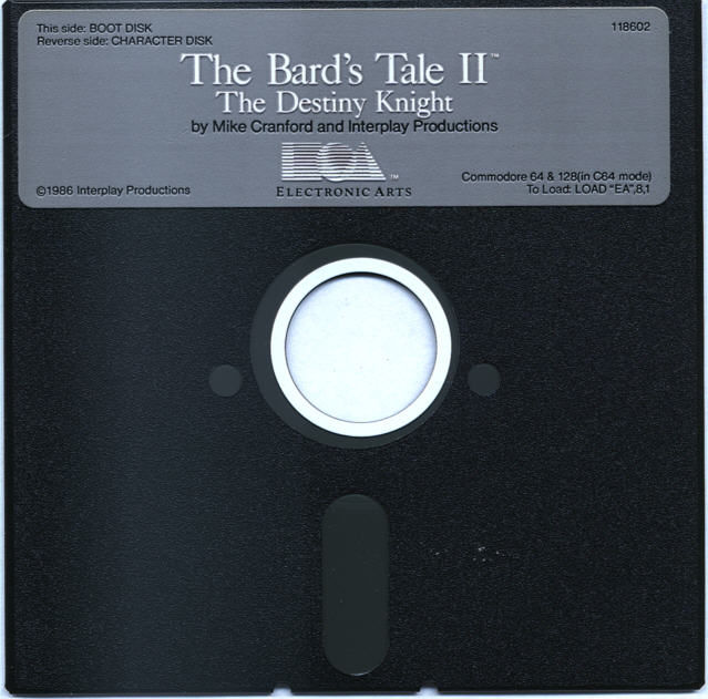 The Bard's Tale II: The Destiny Knight Commodore 64 Media Disk 1 of 2