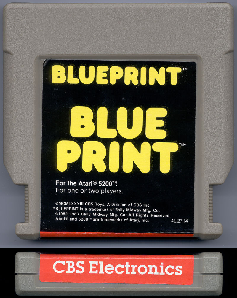 Blueprint 1983 atari 5200 box cover art mobygames blueprint atari 5200 media malvernweather Image collections