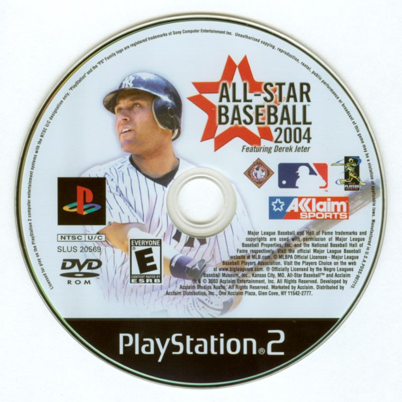 All-Star Baseball 2004 PlayStation 2 Media