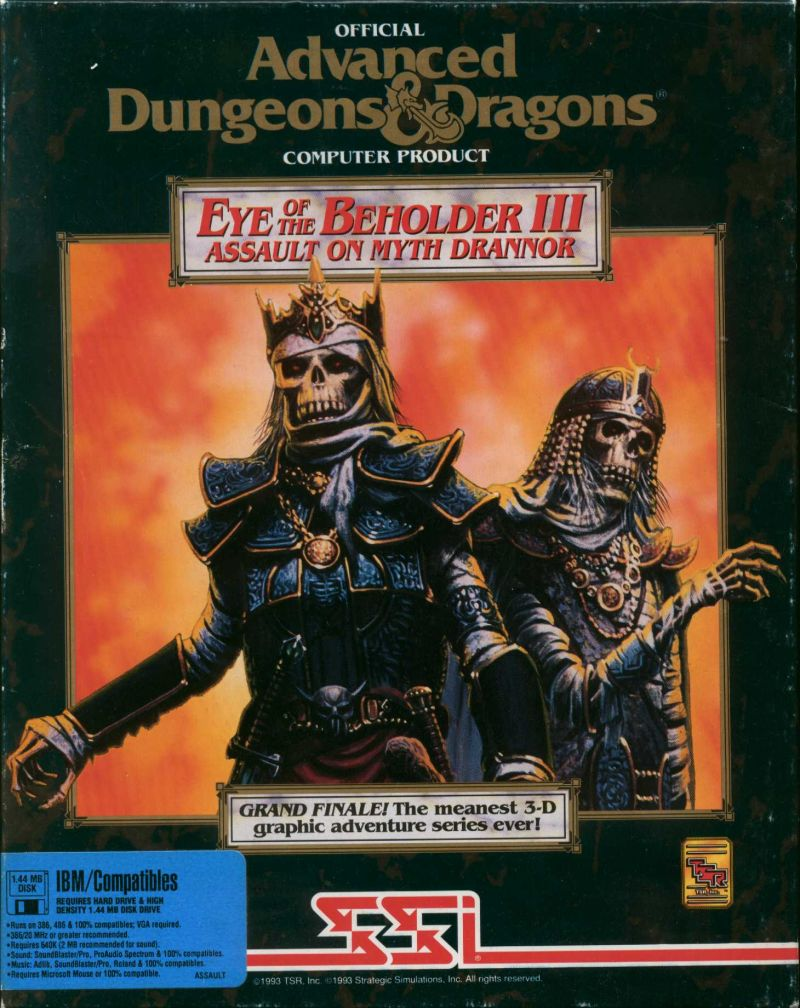 Eye of the Beholder III: Assault on Myth Drannor DOS Front Cover