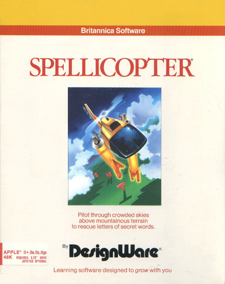Spellicopter Apple II Front Cover