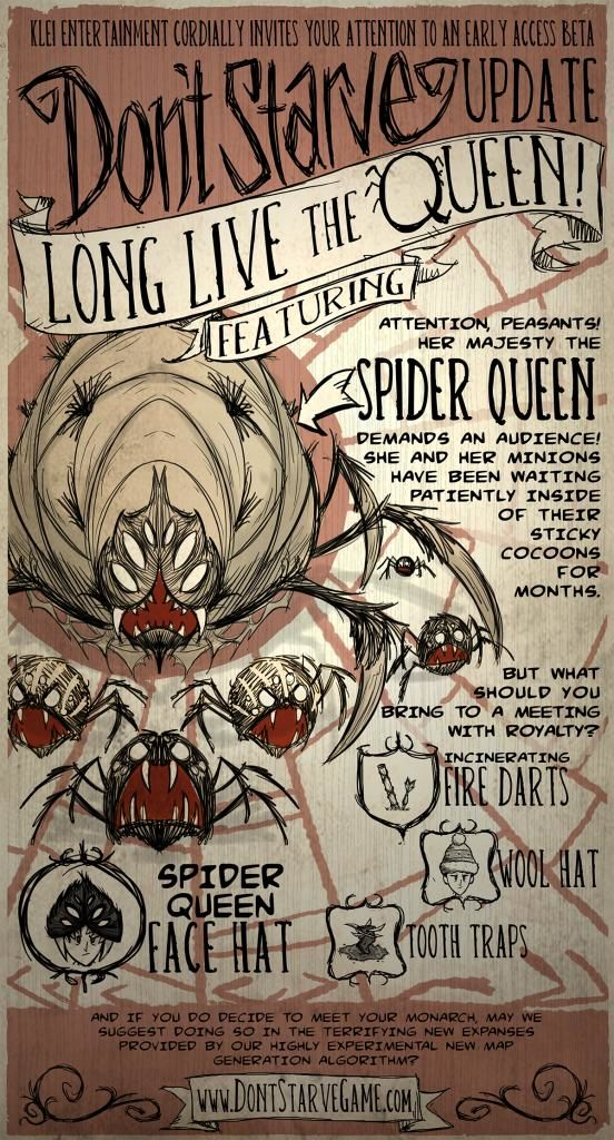 Don't Starve Linux Front Cover Long Live the Queen update (December 19, 2012).