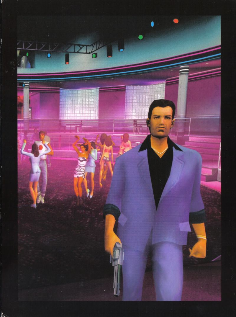 Grand Theft Auto: Vice City Windows Inside Cover Digipak - Back