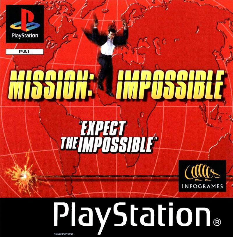 Mission: Impossible PlayStation Front Cover