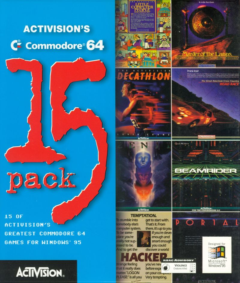 Activision's Commodore 64 15 Pack Windows Front Cover
