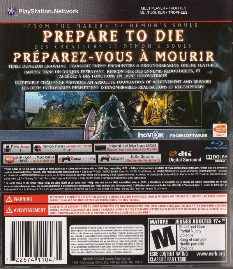 dark souls 2011 playstation 3 box cover art mobygames