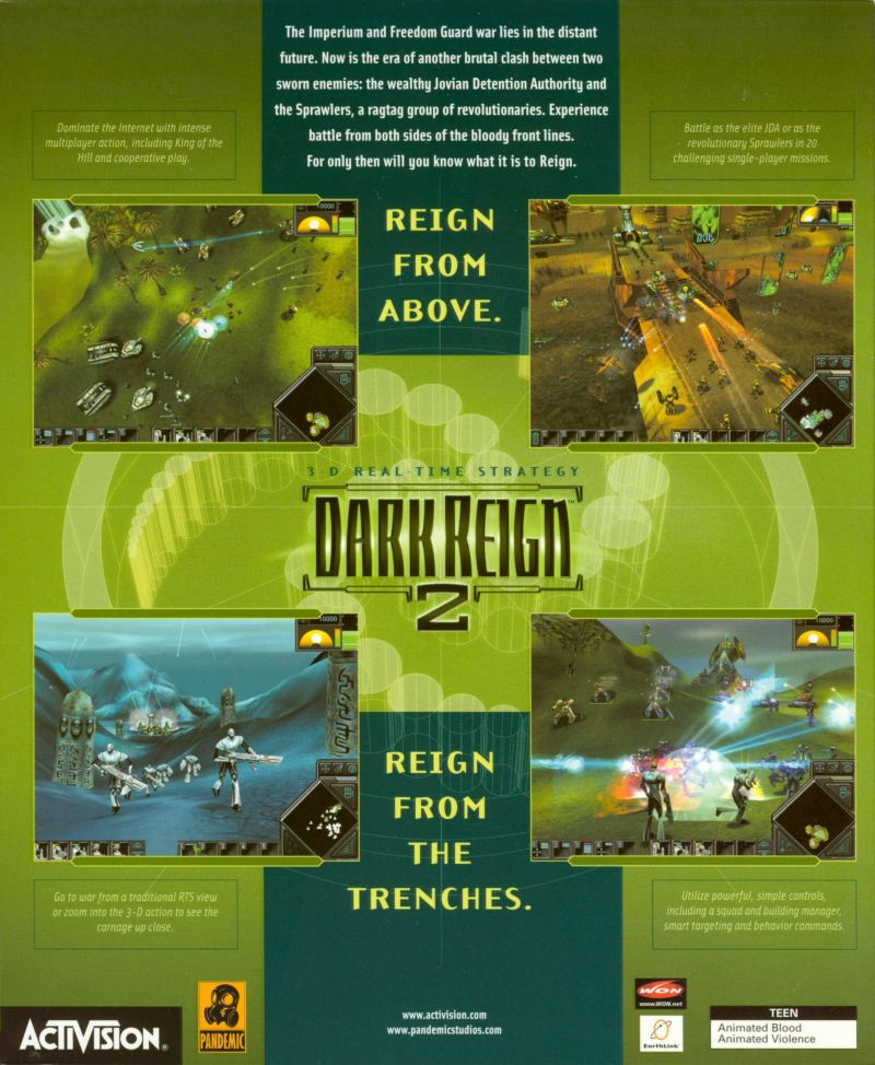Dark Reign 2 Windows Back Cover