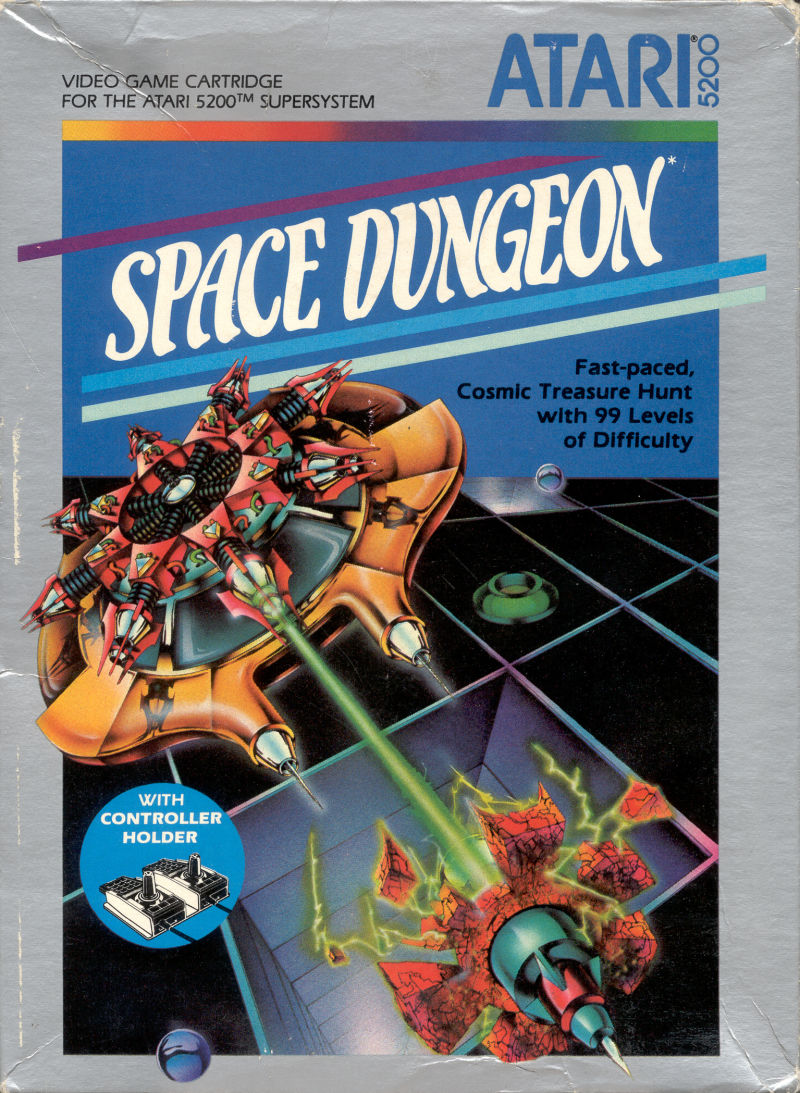 Space Dungeon Atari 5200 Front Cover