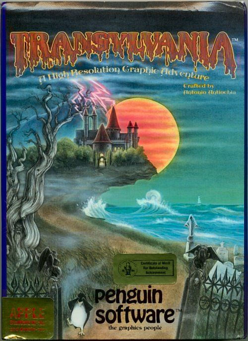 Transylvania Apple II Front Cover