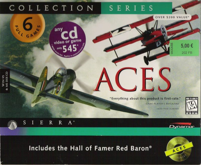 Aces: Collection Series DOS Front Cover