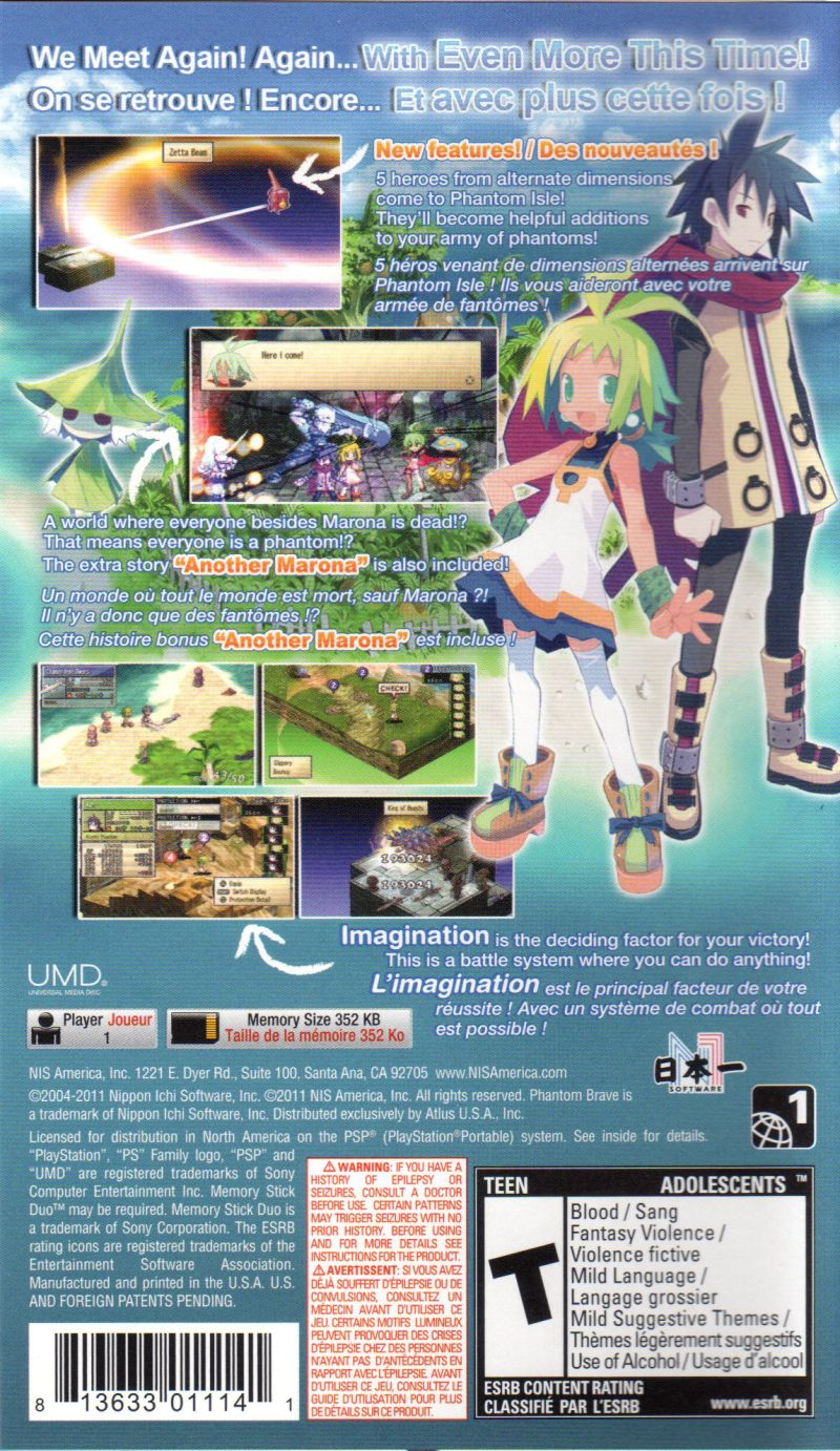 phantom brave the hermuda triangle psp