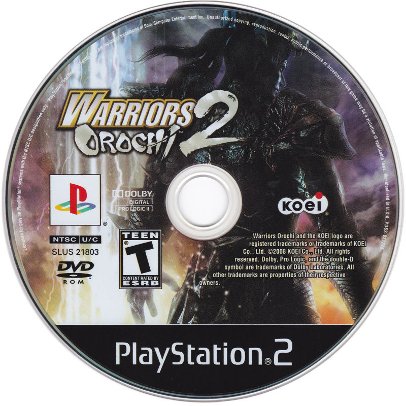 Warriors Orochi 2 (2008) PlayStation 2 Box Cover Art