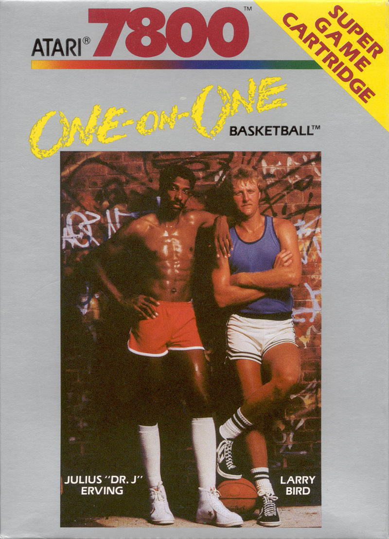 One-on-One Atari 7800 Front Cover