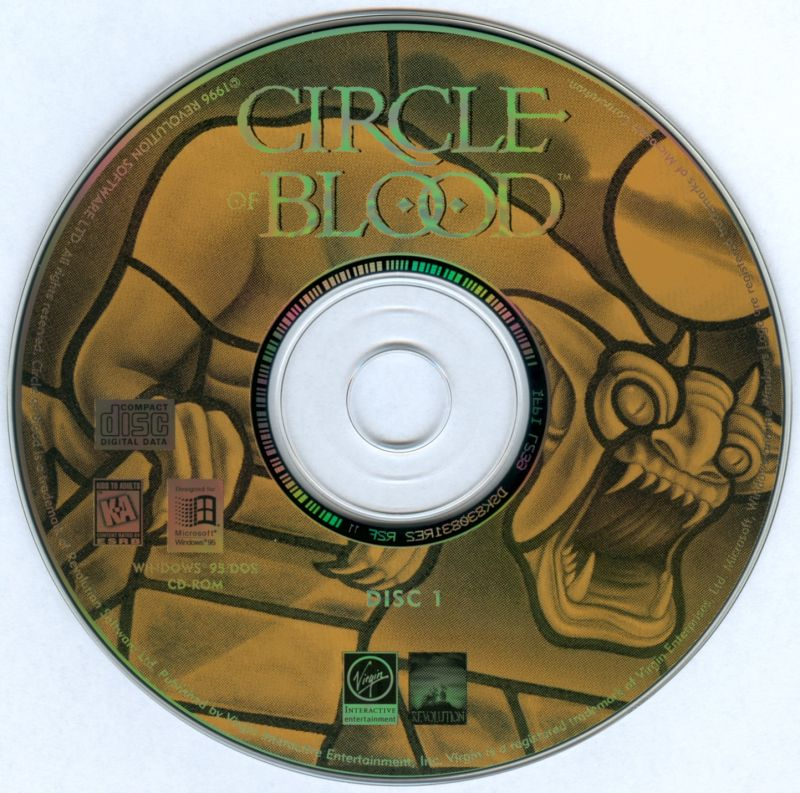 Circle of Blood DOS Media Disc 1