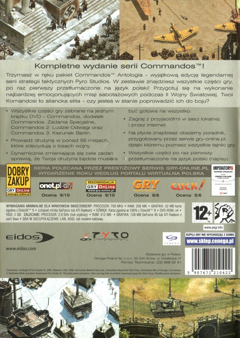Commandos: Collection Windows Back Cover