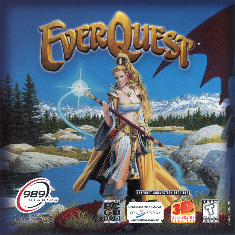 everquest 1999 windows box cover art mobygames