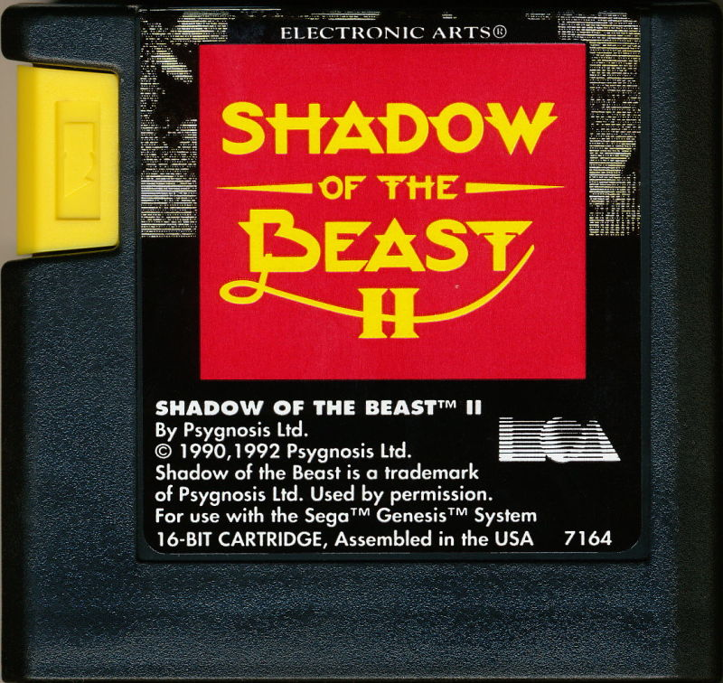 Shadow of the Beast II Genesis Media