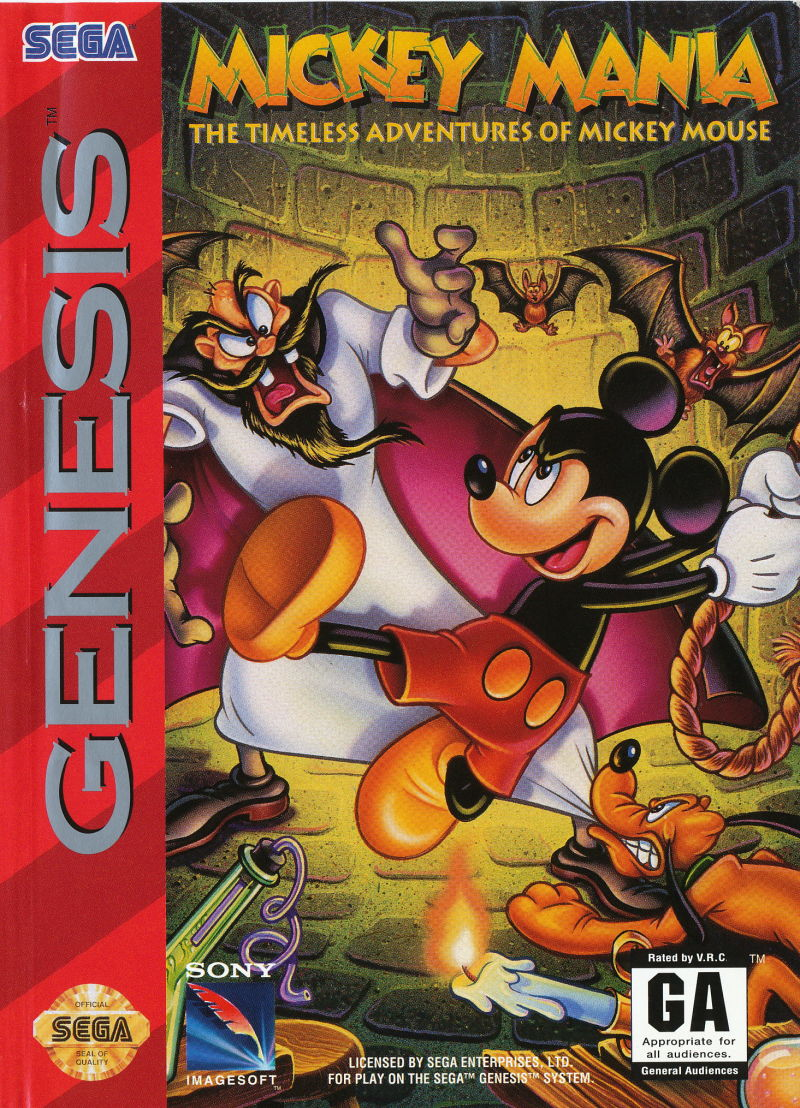 Mickey Mania for Genesis (1994) - MobyGames