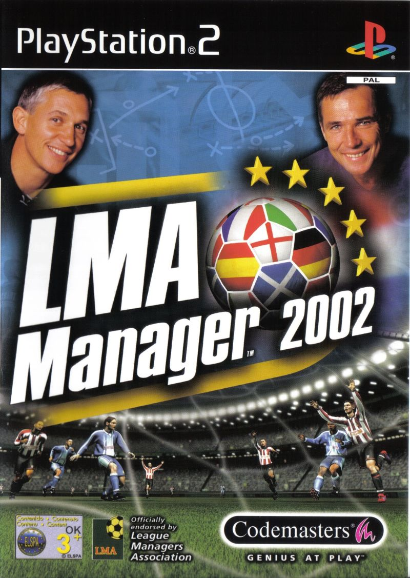 LMA Manager 2002 PlayStation 2 Front Cover