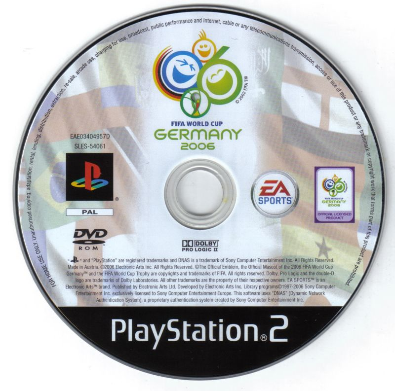 FIFA World Cup: Germany 2006 (2006) PlayStation 2 box cover
