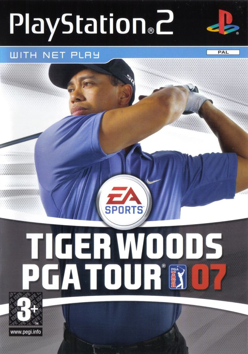 Tiger Woods PGA Tour 07 PlayStation 2 Front Cover