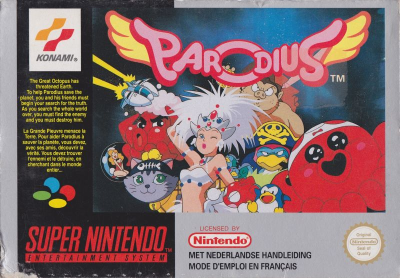 Judge a game by its cover - Page 2 280914-parodius-snes-front-cover