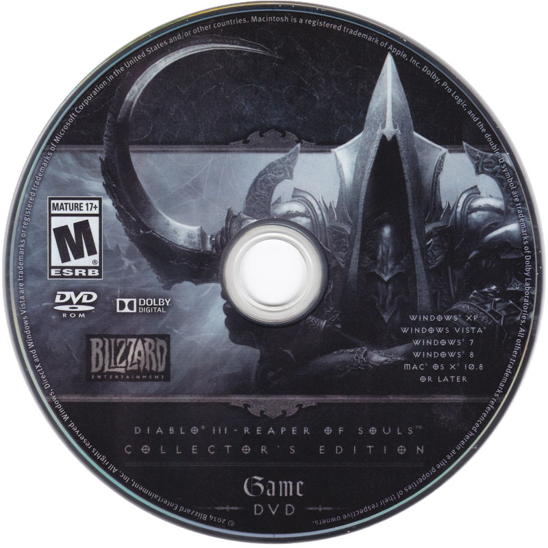 Diablo III: Reaper of Souls (Collector's Edition) Macintosh Media Game Disc