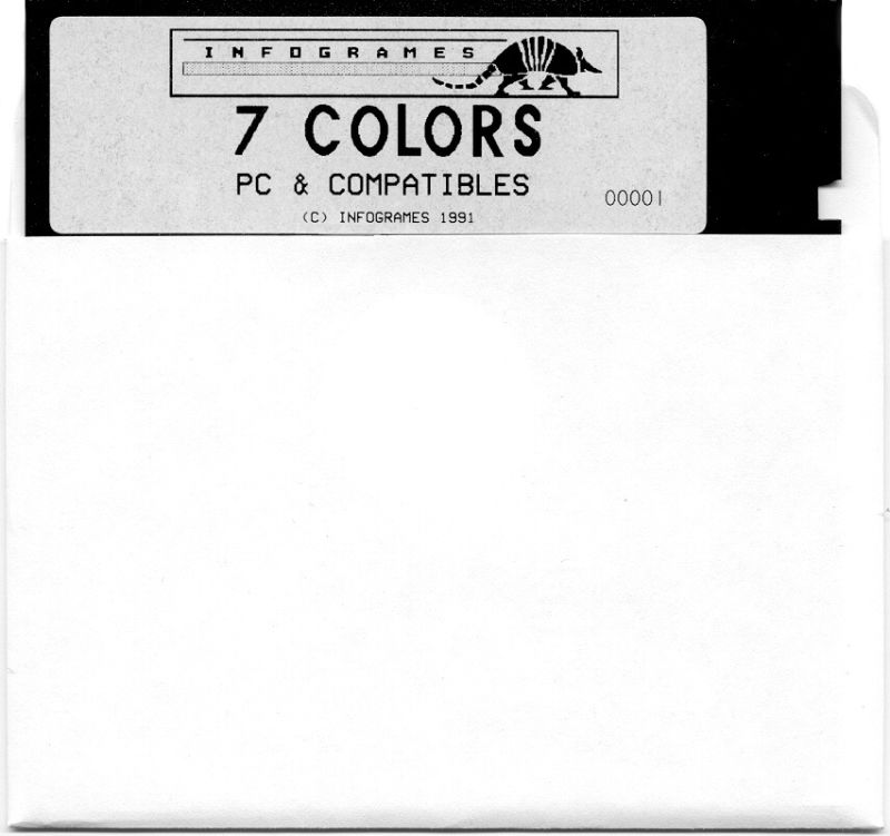 "7 Colors DOS Media 5.25"" DD Disk"