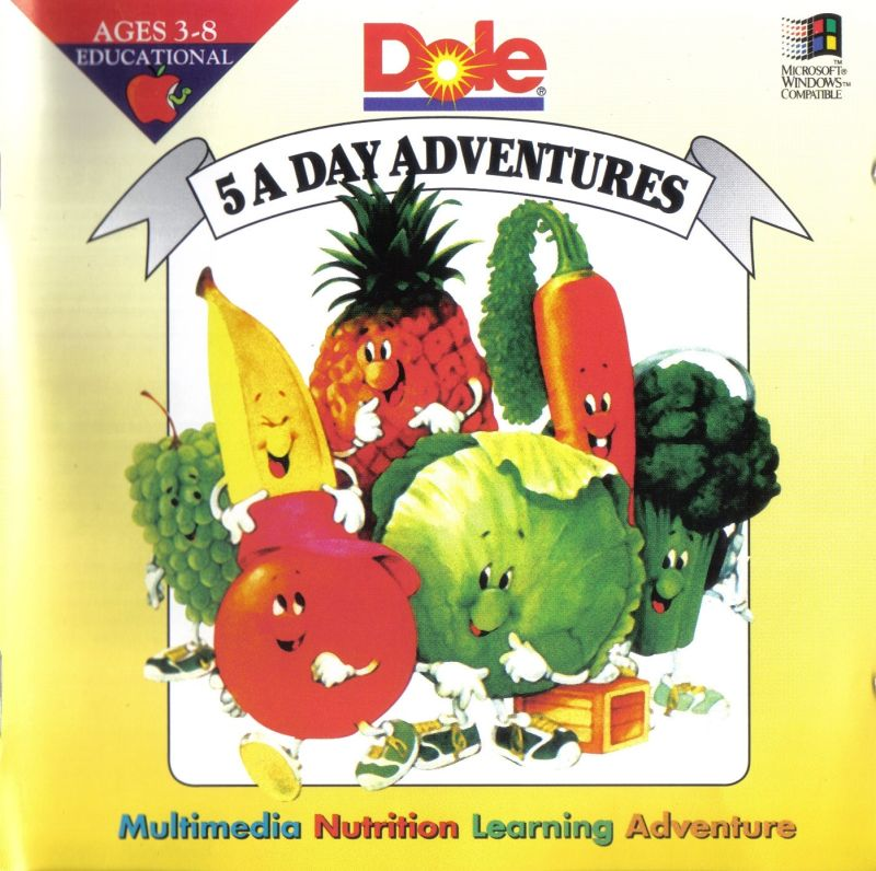 dole 5 a day adventures for windows 3 x 1995 mobygames