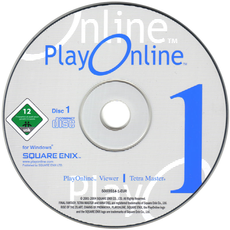 Final Fantasy XI Online: The Vana'Diel Collection Windows Media PlayOnline Disc