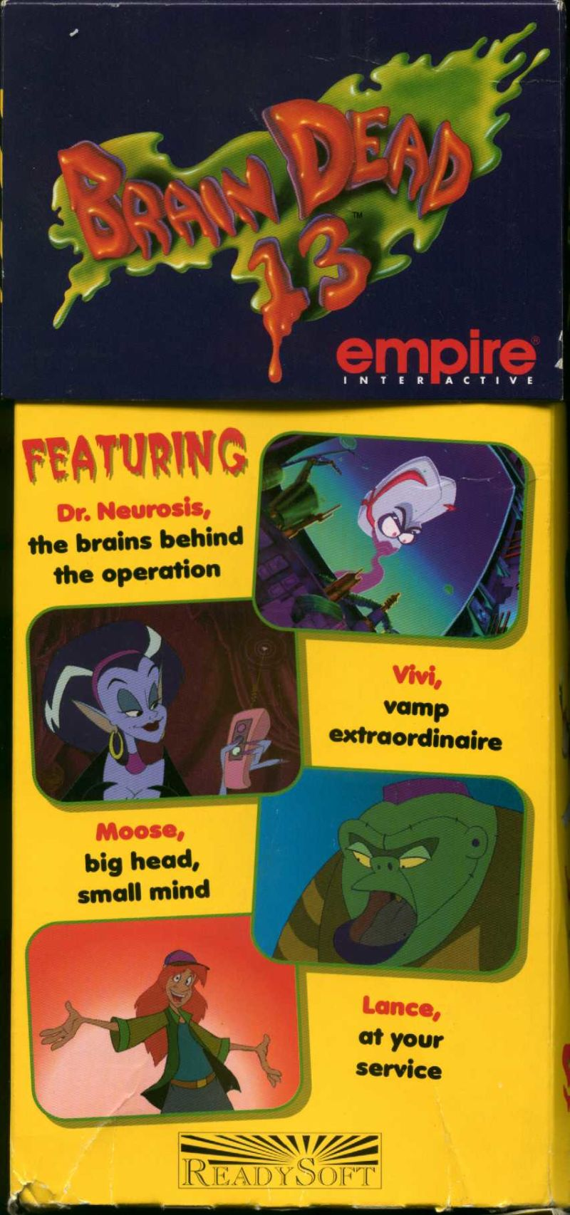 Brain Dead 13 DOS Front Cover Side 1