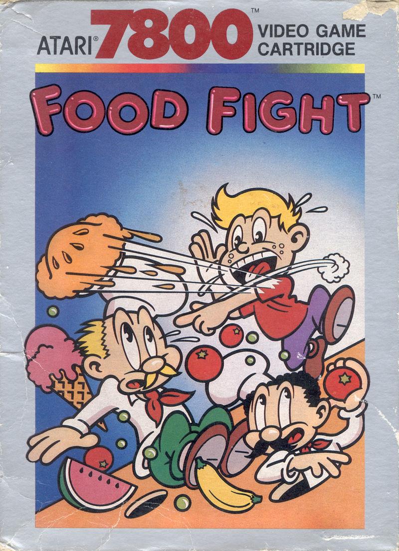 Food Fight Atari 7800 Front Cover