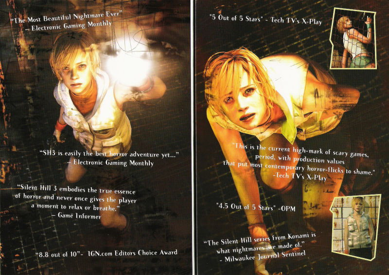 Silent Hill 3 Windows Inside Cover
