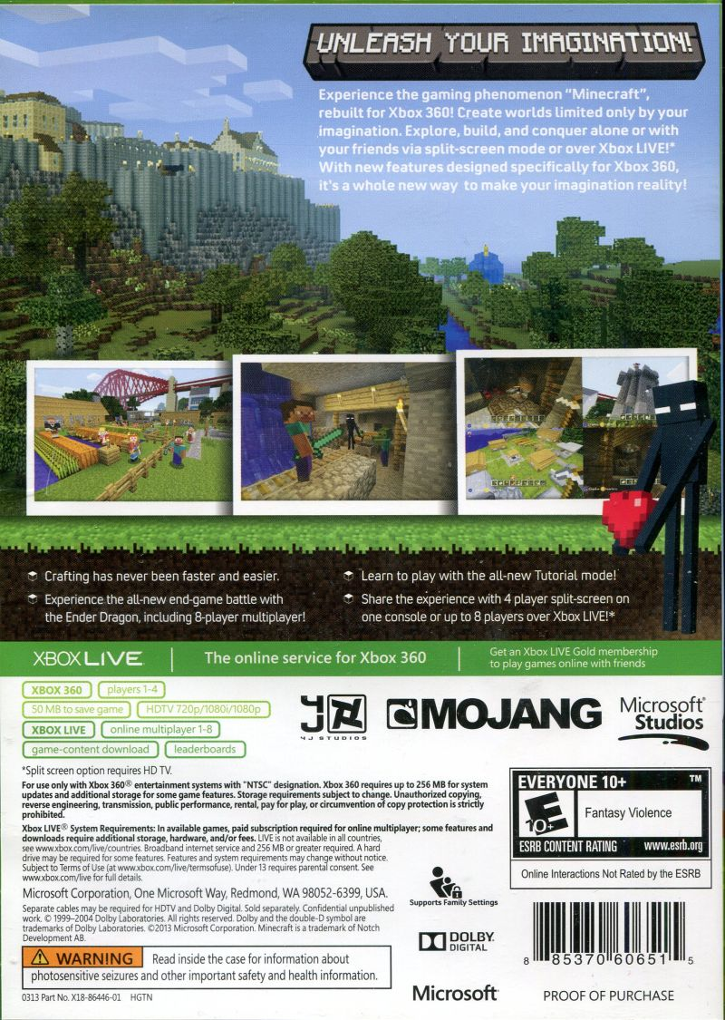 Book Cover Craft Xbox ~ Minecraft xbox cover art images