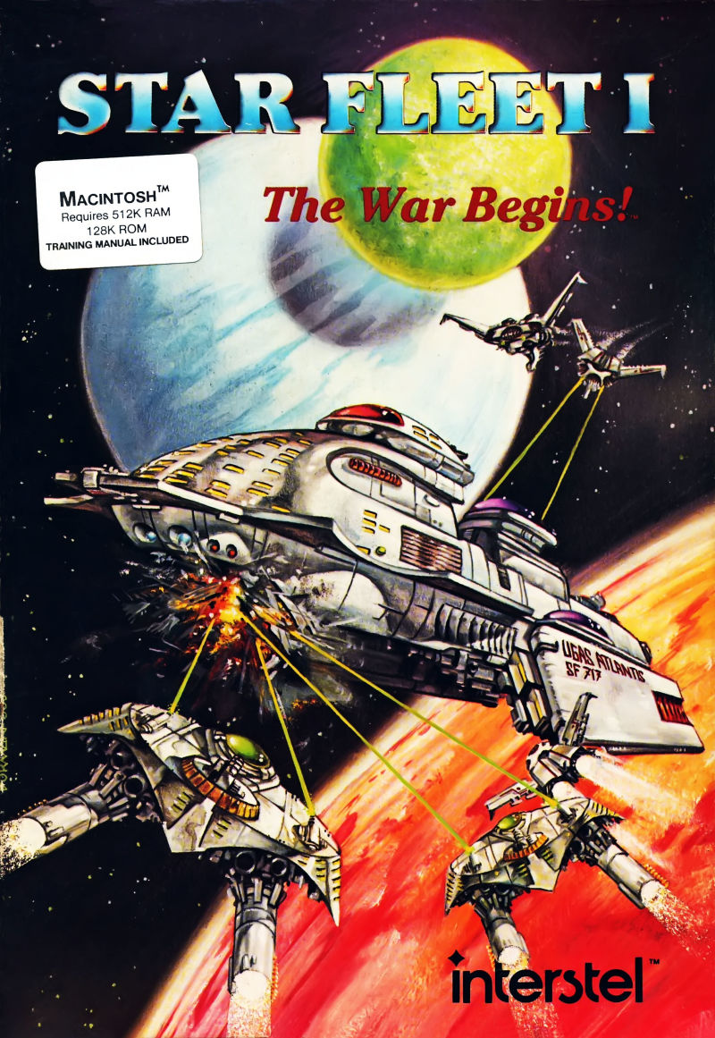 Star Fleet I: The War Begins! Macintosh Front Cover