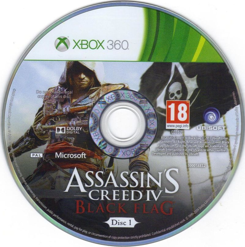 assassins creed iv black flag 2013 xbox 360 box cover