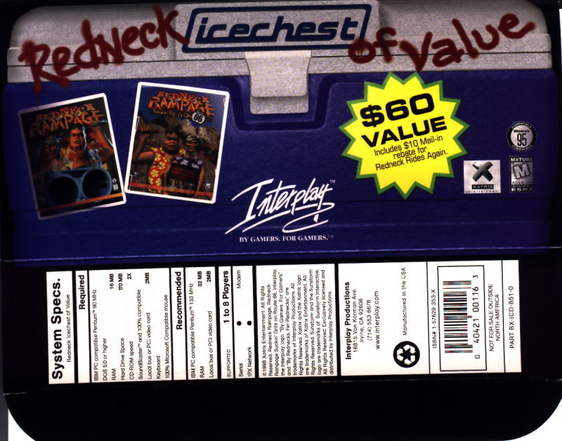 Redneck Icechest of Value DOS Front Cover