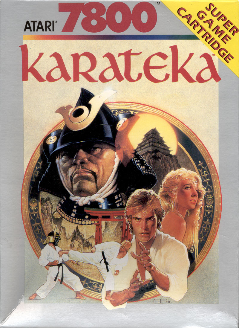 Karateka Atari 7800 Front Cover