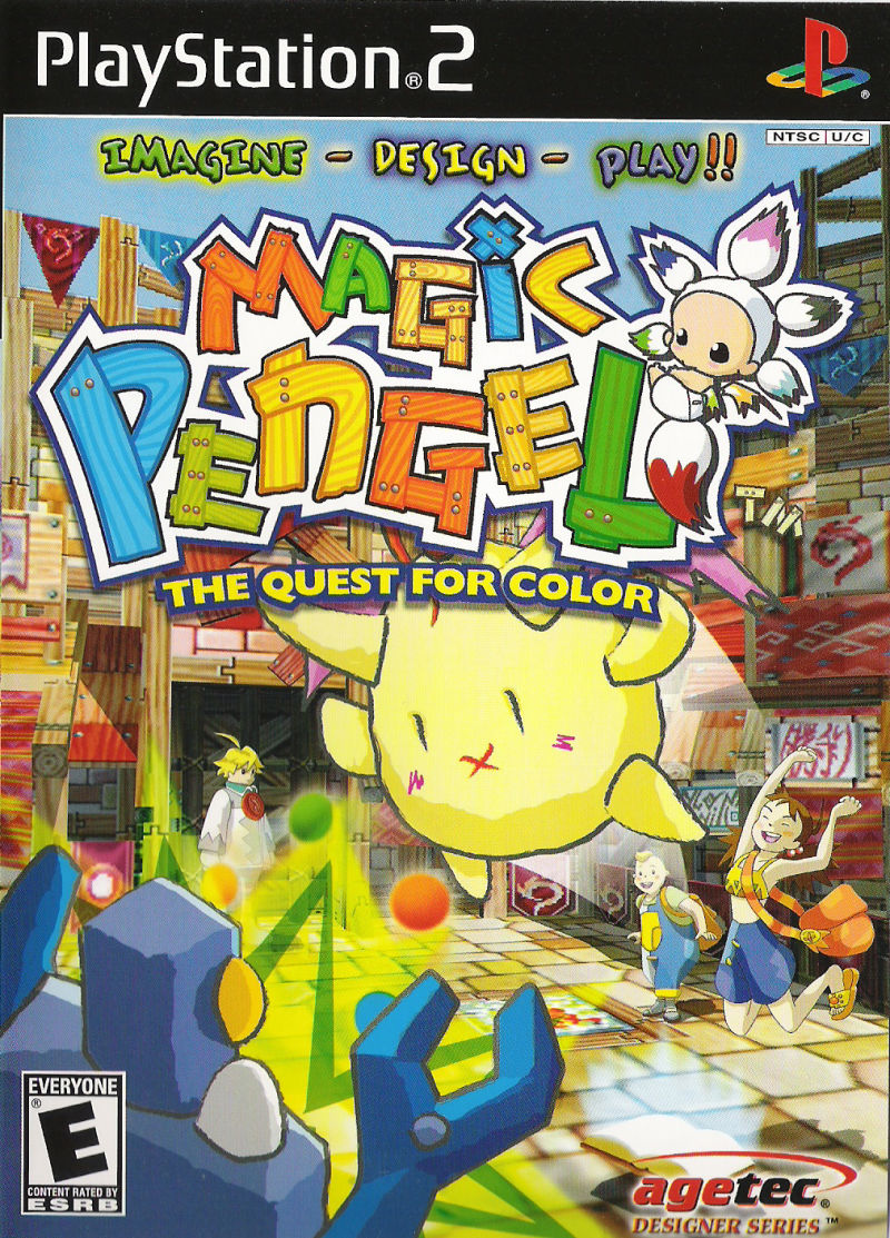 Magic Pengel: The Quest for Color PlayStation 2 Front Cover