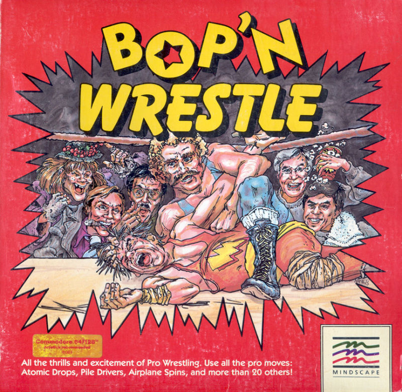Rock'n'Wrestle (C64) 28531-bop-n-wrestle-commodore-64-front-cover