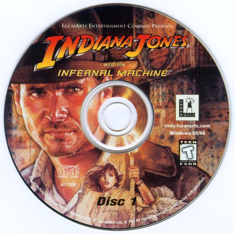Indiana Jones and the Infernal Machine Windows Media Disc 1