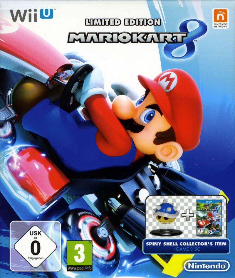 Mario Kart 8 Limited Edition 2014 Wii U Box Cover Art