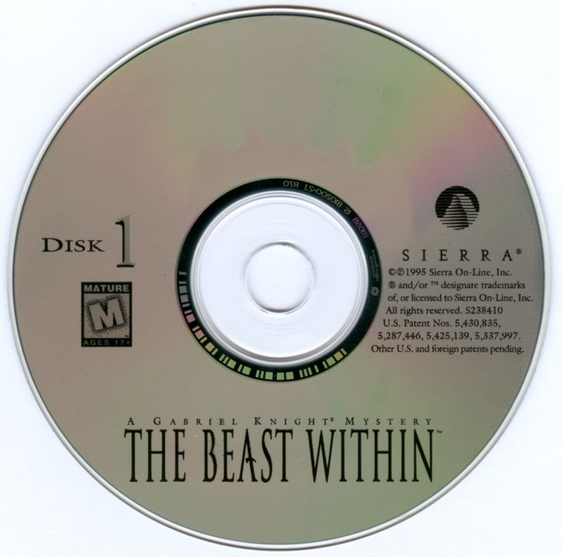 The Beast Within: A Gabriel Knight Mystery DOS Media Disc 1/6