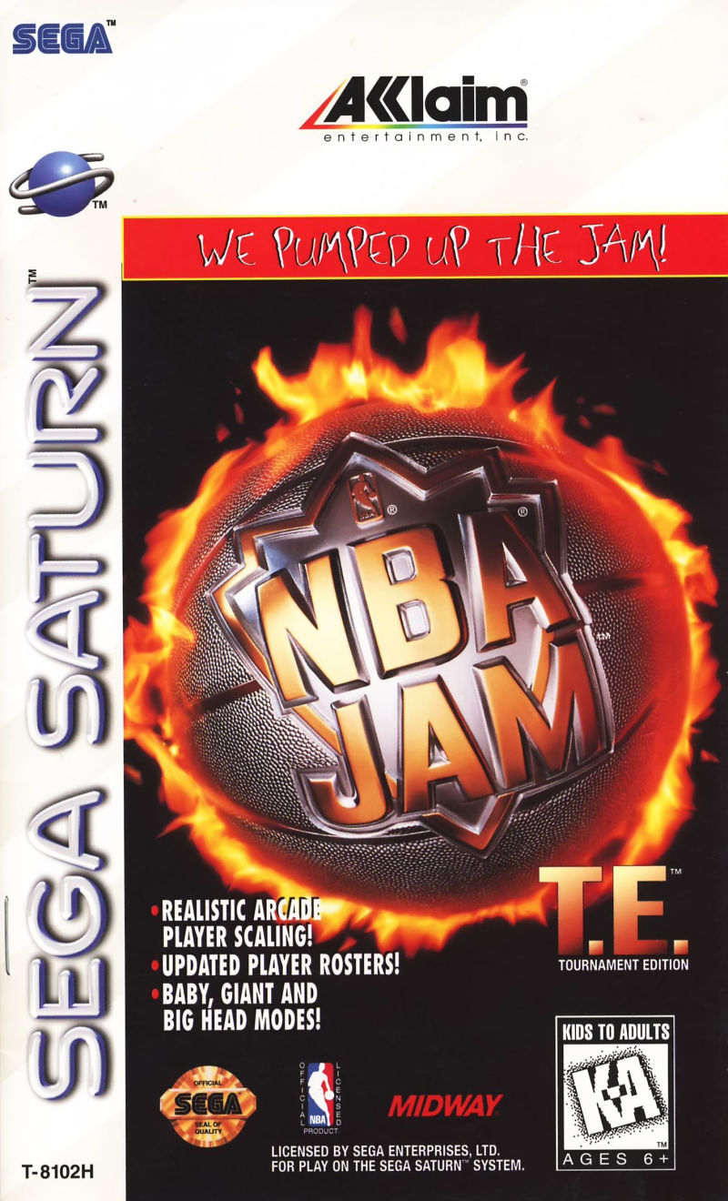Nba Jam Tournament Edition For Sega Saturn 1995 Mobygames