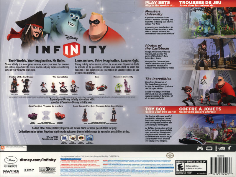Disney Infinity 2013 Playstation 3 Box Cover Art Mobygames