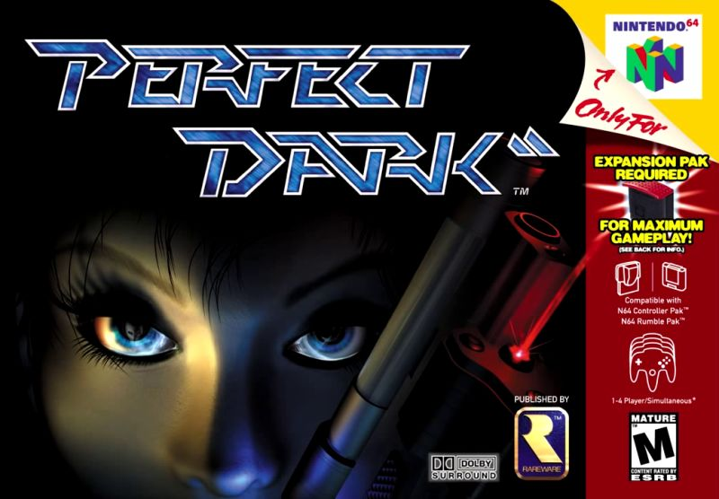 Perfect Dark Nintendo 64 Front Cover