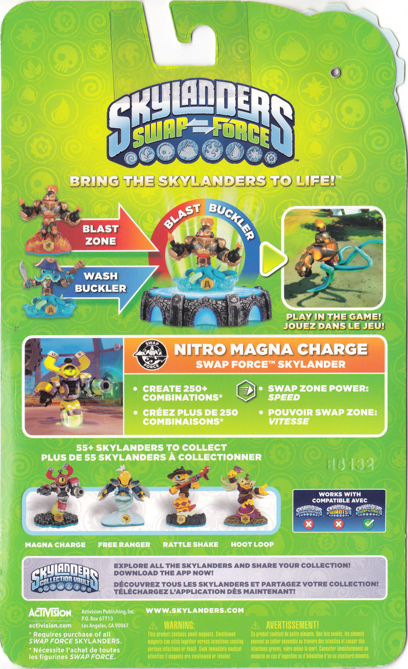 skylanders swap force magna charge nintendo 3ds back cover - Tous Les Skylanders
