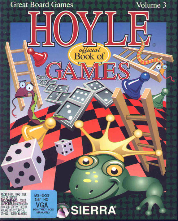 Book Cover Series Games : Hoyle official book of games volume for dos